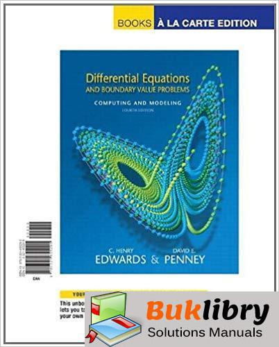 Students Solutions Manual for Differential Equations and Boundary Value Problems