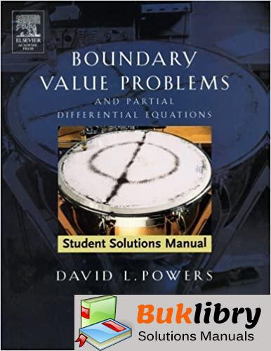Students Solutions Manual Boundary Value Problems and Partial Differential Equations