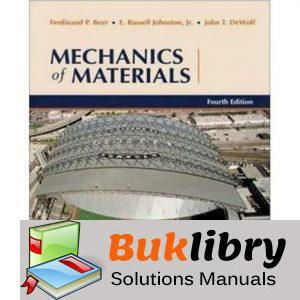 Solutions Manual of Mechanics of Materials by Beer & Johnston 4th edition