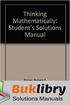 Solutions Manual of Thinking Mathematically by Blitzer 5th edition