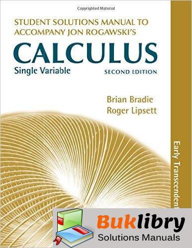 Accompany Jon Rogawski's Single Variable Calculus by Bradie & Lipsett