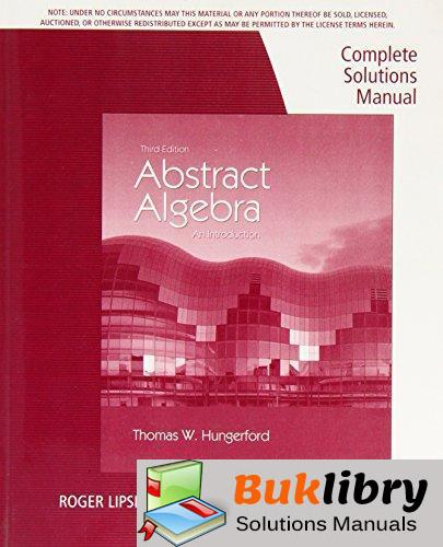 Abstract Algebra: an Introduction by Hungerford