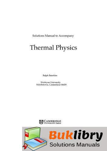 Thermal Physics by Baierlein by Baierlein