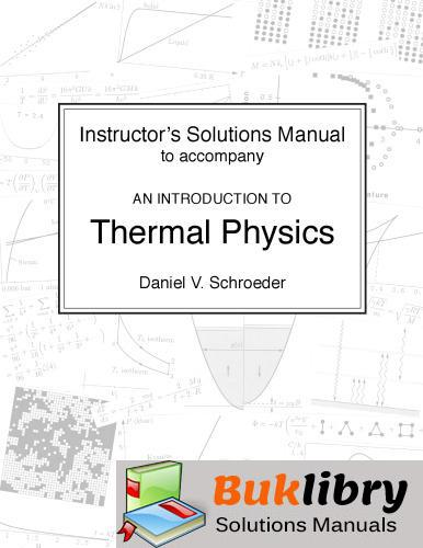 Manual Thermal Physics by Schroeder
