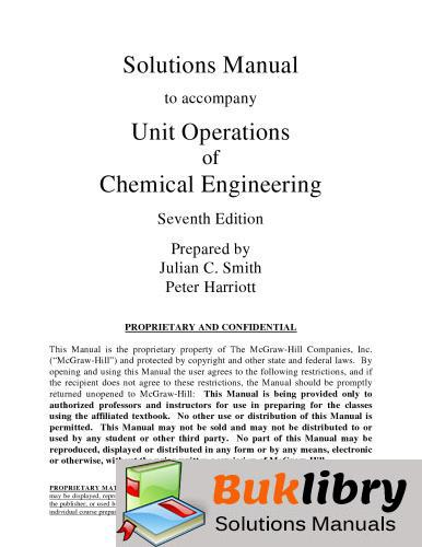Unit Operations of Chemical Engineering by McCabe & Smith