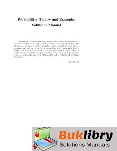 Probability: Theory and Examples by Durrett