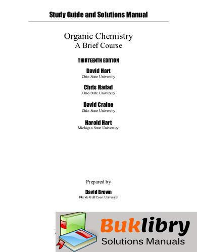 Organic Chemistry: A Brief Course by Hart & Craine